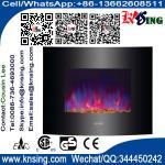 L'appareil de chauffage électrique de cheminée de bâti de mur a courbé le radiateur avant de support de base de pierre de la flamme EF453S/EF453SL/EF453SLB de cailloux