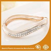 Small Rhinestone Solid Silver Metal Bangles For Girls Jewellery