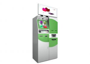 China Rf Fingerprint Scanner Multimedia Kiosk With 32 Inches Advertising Screen For Foreign Currency Exchange on sale