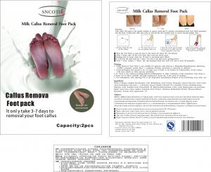 China Milk Callus Removal Foot Pack on sale