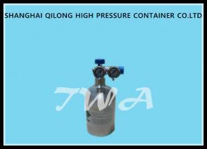 China Medical Aluminum Empty Gas Cylinder / Butane Gas Bottle LW-YOY 0.4L on sale