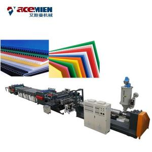 China Plastic Corrugated Box PP Hollow Sheet Extrusion Line High Efficiency Durable on sale