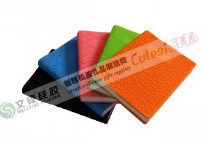 China Customized Silicone Diary Cover with A5 size in Blank Printing on sale