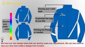 China Customized 100 Cotton Contrast sweatshirt Mens Sport Tracksuits , Blue on sale