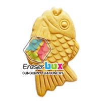 SFD103 Cooked fish shaped TPR school eraser, environmental food shaped erasers
