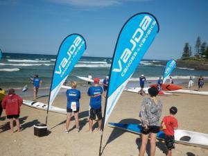 China Teardrop shape beach advertising Flag on sale