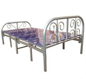 China Metal Folding Bed, Steel Folding Bed With 10 Legs, Foldable Bed on sale