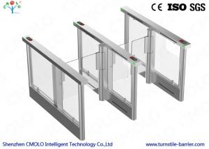 China Electrical Security Flap Gate Turnstile Entrance With Ir Sensors on sale