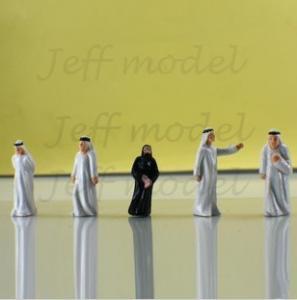 China Scale Model figure,layout mini human ABS COLOR Arab figure PA 1/50,1/75,1/100,1/150,1/200 on sale