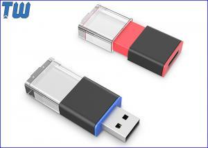 China Sliding Crystal LED Light On 3D Laser Logo 4GB USB Flash Pen Drive on sale