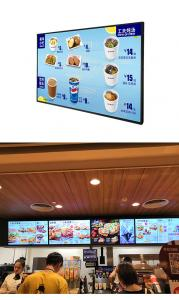 China LED Touch Screen Digital Signage Display , Wall Mounted Advertising Display With Camera on sale