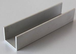 Silver Anodized Aluminium Channel Extrusions Architectural