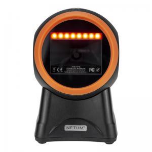 China Automatic Omnidirectional Barcode Scanner Flatbed Desktop USB 2D QR Bar Code Reader on sale