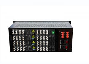 China 4U Video Digital Optical Converter 64 Channel Video To Fiber Optic Converter on sale