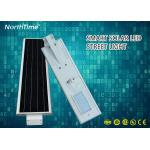 High Lumens Automatic On / Off All-in-One LED Solar Street Lights 6M Height 30W 26AH