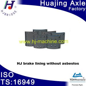 China Spare parts of semi-trailer-------brake lining without asbestor on sale