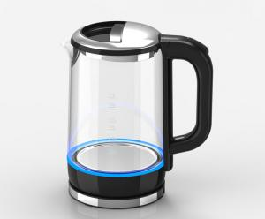 China Energy Saving Clear Glass Electric Kettle Water Boiler Kettle CE CB Certification on sale