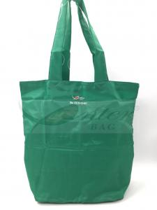 China Convenient Personalised Folding Shopping Bags / Fold Up Nylon Tote Bags on sale