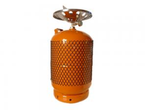 China Empty Pressurized LPG Residential Propane Tanks Gas Cylinders with burner on sale