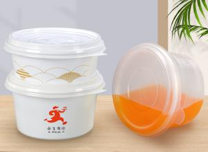 China Holding Fast Food Round Thermoformed Disposable Soup Bowls With Lid on sale
