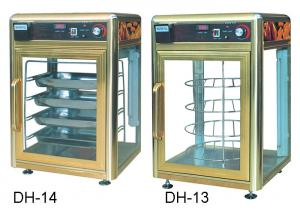 China 900W Food Display Showcase Electric Revolving Pizza Display Warmer With Humidifier supplier