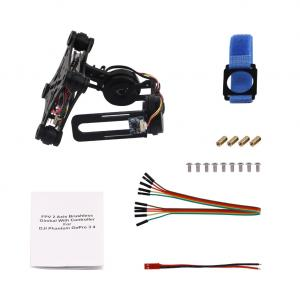 China Black 2 Axles Brushless Gimbal PTZ Control Panel For Gopro3/4 Airplane Drone on sale