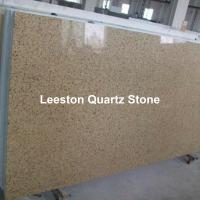 Big slab brown quartz stone kitchen countertops