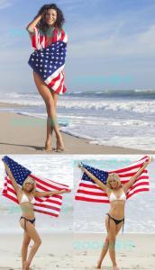 China 70*140cm(27''*55'')Cotton Canadian flag American flag British flag Summer Beach Towel on sale