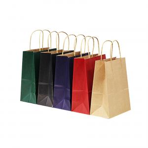 China Emboss Branded Paper Bags Shopping Drawstring Clothing Tote Paper Carry Bag on sale