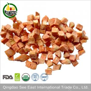 China 100% Natural instant vegetables Freeze Dried Carrot Dice Dehydrated Dried Carrot Cubes on sale