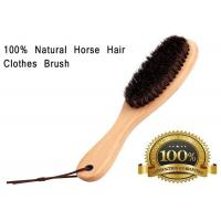 Soft Horse Hair Shoe Brush With Handle For Dust Pet Hair Static