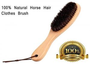 China Soft Horse Hair Shoe Brush With Handle For Dust Pet Hair Static on sale
