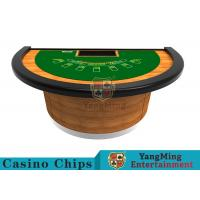 Half - Moon Shape Structure Poker Card Table With Difficult Deformation Runway