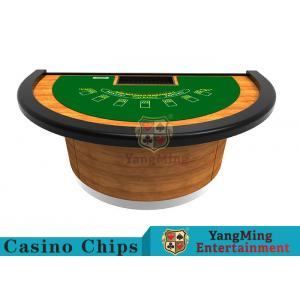 China Half - Moon Shape Structure Poker Card Table With Difficult Deformation Runway on sale