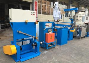 China Industrial PVC Cable Extruder Machine With Double Axis Pay Off Straightening Device on sale