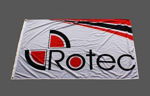 China Fire Proof Outdoor Flag Banners Advertising For Quick Exhibition Booth / Shop on sale