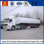 China 8X4 Oil Tank Truck Trailer / Fuel Tank Semi Trailer Q325 Steel Material wholesale