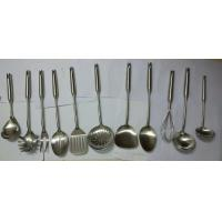 10PCS kitchen tool set with stainless steel handle egg beater kitchen turner kitchen spoon