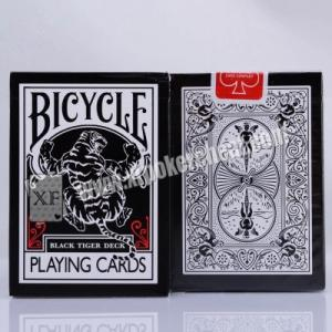 China Black Tiger Ellusionist Plastic Marked Poker Cards Side Barcode For Poker Analyzer on sale