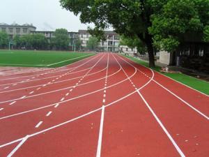 China Field Surface Polyurethane Sports Flooring Anti Slip For Children Running on sale