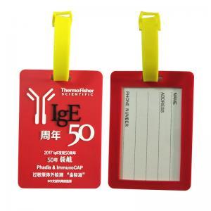 China Anniversary Souvenir Soft PVC Luggage Tag Travel Bag Labels Baggage Handbag ID Tag Suitcase Tag Name Card Holder on sale