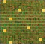 Teja verde con la decoración real del golpeteo de la mezcla del mosaico del vidrio del oro 20m m