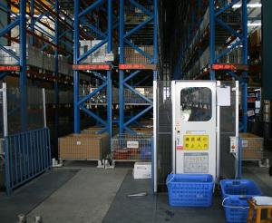 China Automated Storage Retrieval System Industrial Pallet Racks For Warehouse on sale