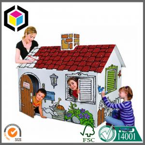 China DIY Corrugated Cardboard Play House for Children; Color Print Play House on sale