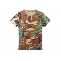 China Woodalnd Cool Tactical T Shirts Elastic 100% Cotton For Outdoor Sports on sale
