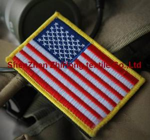 China American flag military embroidery badge patches Velcro armband on sale
