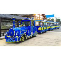 62 Seats Electric Trackless Train Trackless / Outdoor Tourist Train with Lithium Battery