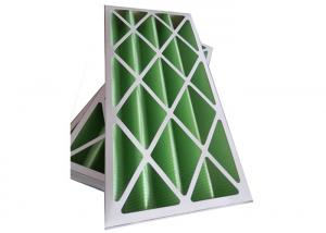 China Rigid Pleated Panel Air Filters , Clean Room Pre Filter G1 - G4 With Cardboard Frame on sale