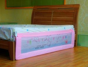 queen size fashion pink bed guard rails to prevent baby falling