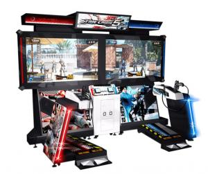 China Time Crisis 5 Simulator Shooting Arcade Machine With Special Gun Coin Operated on sale